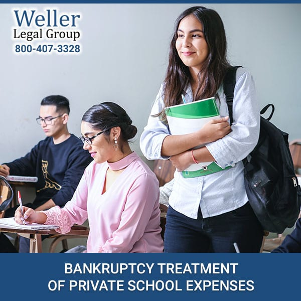 BANKRUPTCY TREATMENT OF PRIVATE SCHOOL EXPENSES