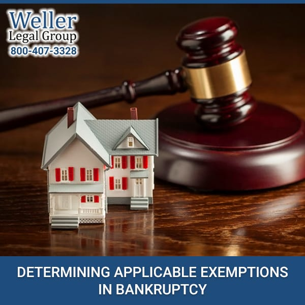 DETERMINING APPLICABLE EXEMPTIONS IN BANKRUPTCY