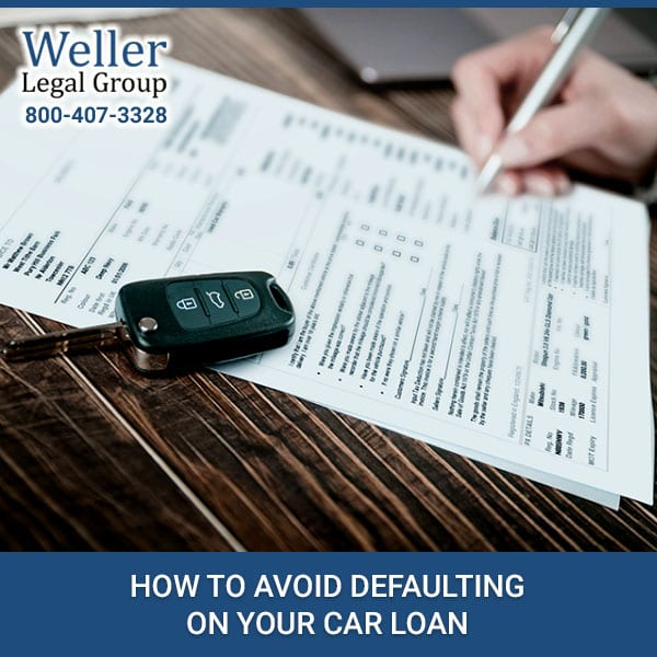 How To Avoid Defaulting On Your Car Loan