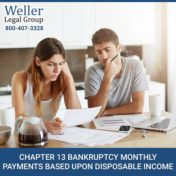 Chapter 13 Bankruptcy Monthly Payments Based Upon Disposable Income