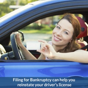 Filing for Bankruptcy May Reinstate a Suspended Driver's License